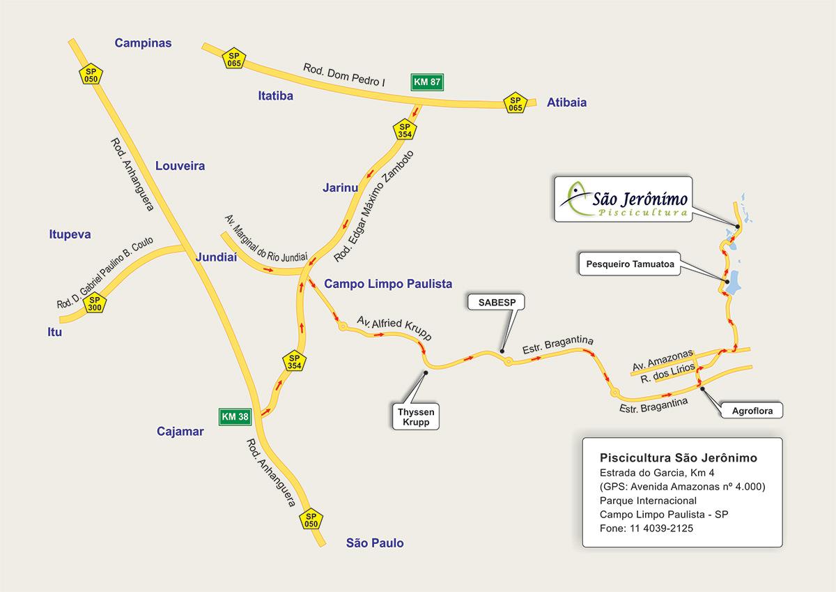 Mapa de Localização - Piscicultura São Jerônimo